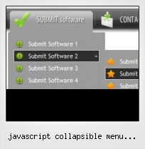 Javascript Collapsible Menu Folder Icon