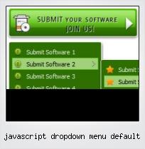 Javascript Dropdown Menu Default