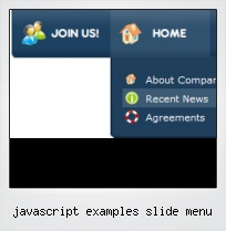 Javascript Examples Slide Menu