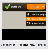Javascript Floating Menu Firefox