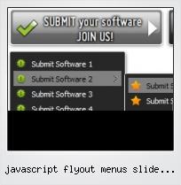 Javascript Flyout Menus Slide Horizontal