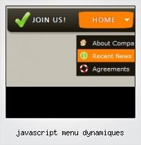Javascript Menu Dynamiques