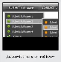 Javascript Menu On Rollover