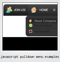 Javascript Pulldown Menu Examples