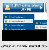 Javascript Submenu Tutorial Menu