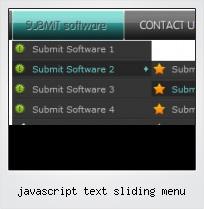Javascript Text Sliding Menu