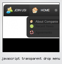 Javascript Transparent Drop Menu