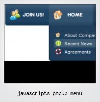 Javascripts Popup Menu