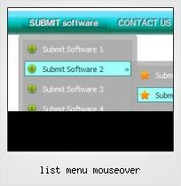 List Menu Mouseover