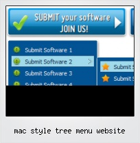 Mac Style Tree Menu Website