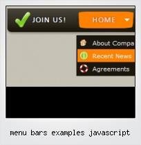 Menu Bars Examples Javascript