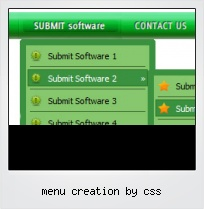 Menu Creation By Css