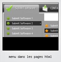Menu Dans Les Pages Html