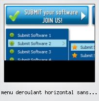 Menu Deroulant Horizontal Sans Javascript