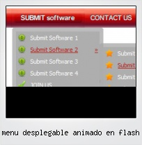Menu Desplegable Animado En Flash
