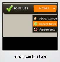 Menu Example Flash