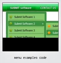 Menu Examples Code