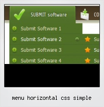 Menu Horizontal Css Simple