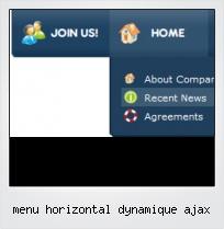 Menu Horizontal Dynamique Ajax