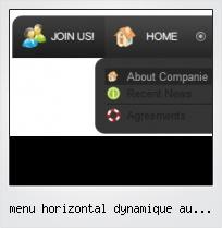 Menu Horizontal Dynamique Au Dessus Frame Html