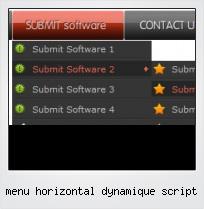 Menu Horizontal Dynamique Script