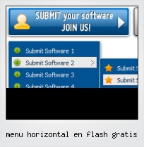 Menu Horizontal En Flash Gratis