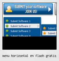 Menu Horizontal En Flash Gratis