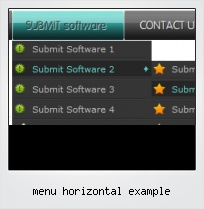 Menu Horizontal Example