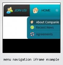 Menu Navigation Iframe Example