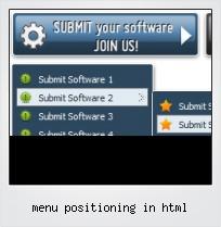 Menu Positioning In Html