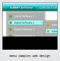 Menu Samples Web Design