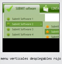 Menu Verticales Desplegables Rojo