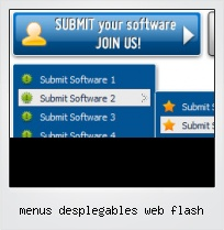 Menus Desplegables Web Flash