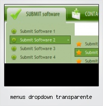 Menus Dropdown Transparente
