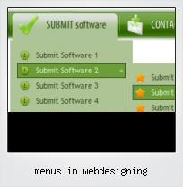 Menus In Webdesigning