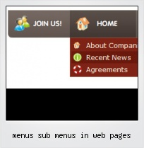 Menus Sub Menus In Web Pages