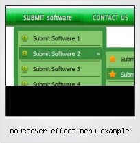 Mouseover Effect Menu Example