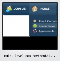 Multi Level Css Horizontal Dropdown Menu