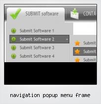 Navigation Popup Menu Frame