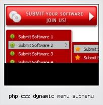 Php Css Dynamic Menu Submenu