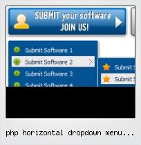 Php Horizontal Dropdown Menu Script