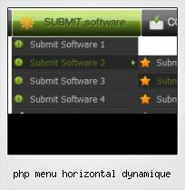 Php Menu Horizontal Dynamique