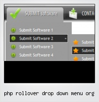 Php Rollover Drop Down Menu Org
