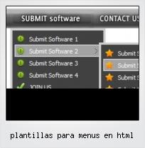 Plantillas Para Menus En Html