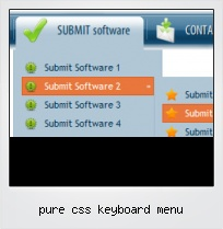 Pure Css Keyboard Menu