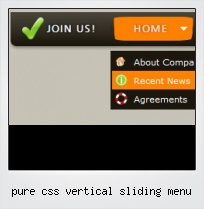 Pure Css Vertical Sliding Menu