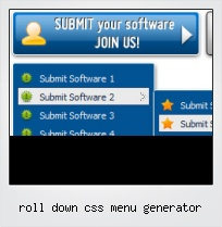 Roll Down Css Menu Generator