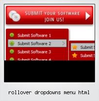 Rollover Dropdowns Menu Html