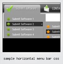 Sample Horizontal Menu Bar Css