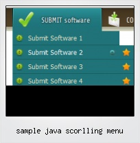 Sample Java Scorlling Menu